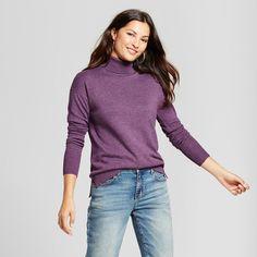 Women's Turtleneck Sweater - A New Day Purple Xxl
