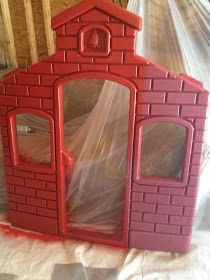 Spray paint Little Tykes outdoor toys. - might have to do this with H's playhouse/slide one day.