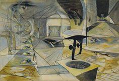Fig. 2. Matta, The Onyx of Electra, 1944. Museum of Modern Art, Nueva York.