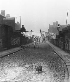 Bill Brandt: Back Street in Jarrow, Tyneside, 1937 Man Ray, Vintage Photography, Street Photography, Candid Photography, Bill Brandt Photography, High Contrast Images, Moving To England, Documentary Photography, Photojournalism