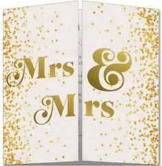 Trouwkaart Mrs en Mrs