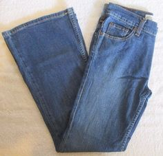 Levi's Strauss Girl's Low Rise Flare Jeans Size 12 #Levis #Flare #Everyday