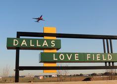 Dallas Love Field's retro sign
