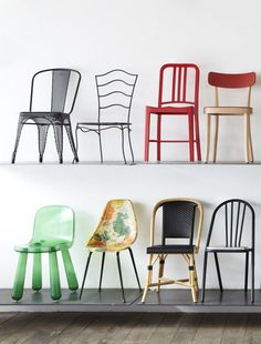 Chairs at Merci, Paris Chaise Floral, Floral Chair, Chair Design, Furniture Design, Leather Bean Bag Chair, Merci Paris, Shop Interiors, Take A Seat, Cool Chairs