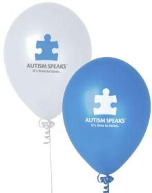 Autism Speaks balloons