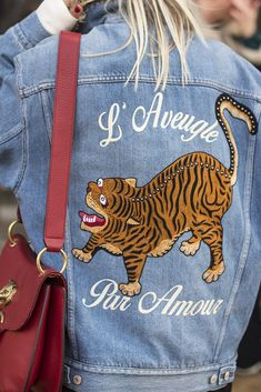 Gucci denim jacket? Always a winner, especially at Copenhagen Fashion Week