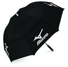 Mizuno Twin Canopy - Paraguas unisex, color negro - http://comprarparaguas.com/baratos/golf/mizuno-twin-canopy-paraguas-unisex-color-negro/
