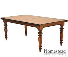 Tuscany Dining Table by Homestead Furniture made in Amish Country.