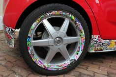 #stickerbomb, #carart, Sticker Bomb, Wheels, Cars, Awesome, Ideas, Autos, Vehicles, Thoughts, Automobile
