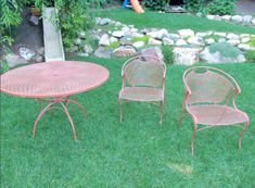 Captivating Painting Wrought Iron Furniture