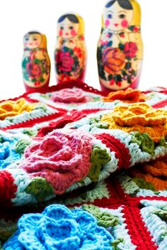Crochet: Babouska Rose Baby Blanket by Sewingdaisies!