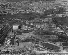 General view of the stadium, including the legendary gas works.