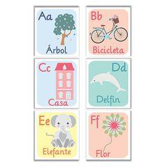 abecedario imprimible abecedario español por Ilustracionymas