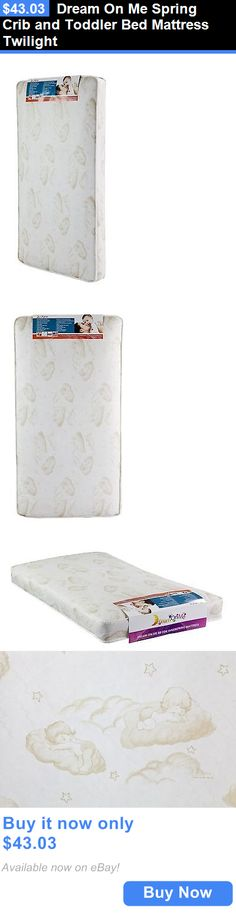 Baby Nursery: Dream On Me Spring Crib And Toddler Bed Mattress Twilight BUY IT NOW ONLY: $43.03