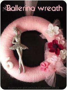 Ballerina yarn wreath