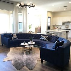Fan Photo of the Week: @shegetsitfromhermama envelopes her living room in diamond tufted luxury with our Circa 3-Piece Sectional in Bella Navy. Rest easy with your whole family, shop her style at zgallerie.com