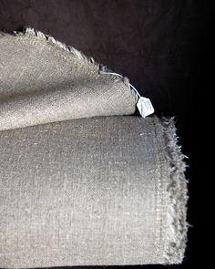 raw irish linen : natural . heavy-wt / for upholstery X