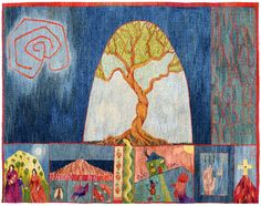 Since the Beginning. A Tapestry Weaving by Kirsten Glasbrook...this is phenomenal!