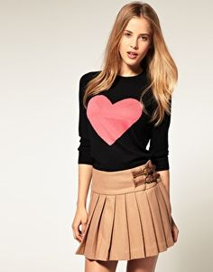 Angora Sweater With Heart