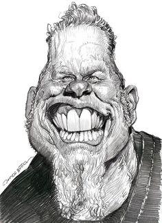 Jan Op De Beeck   Irancartoon   James Hetfield By Jan Op De Beeck-Belgium/Best Sketch ...