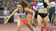 Jenny Simpson and Shannon Rowbury duel in a Diamond League meet. #athletics #trackandfield #running