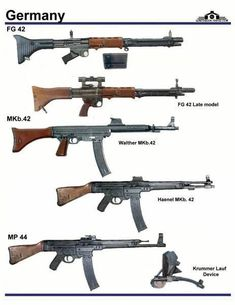 German WWII auto and assault rifles