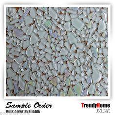 10 SF - White ice Glass Mosaic Tile kitchen backsplash wall bathroom shower