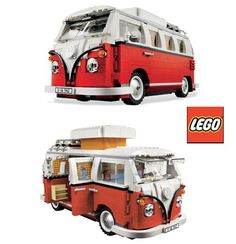 Oh would you look at this VW camper out of LEGO, I think I would like it more than my kids!!!