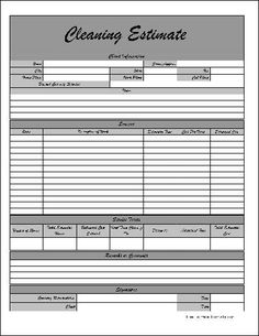 Estimate  Printable Forms  Templates  Business