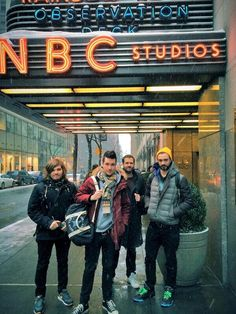 Bastille getting ready for SNL. I cried watched the performance.....and this is my 200th pin to my Bastille Board!