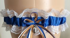 Wedding Garter Super Store  - Royal Blue and White Lace, $13.99 (http://www.weddinggartersuperstore.com/royal-blue-and-white-lace/)