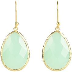 Gold Single Drop Earring Aqua Chalcedony ($78) ❤ liked on Polyvore featuring jewelry, earrings, gold jewellery, aqua blue jewelry, drop earrings, yellow gold drop earrings and chalcedony jewelry