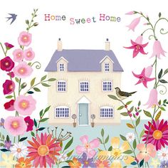 Items similar to Home Sweet Home, 6 Art Print by Sarah Summers on Etsy