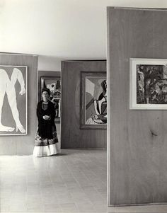 Frida with Picasso's work