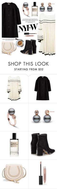 """""""Pack for NYFW"""" by pearlparadise ❤ liked on Polyvore featuring Chloé, D.S. & DURGA, Gianvito Rossi, Burberry, NYFW, contestentry, pearljewelry and pearlparadise"""