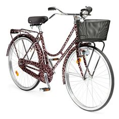 Never one to shy away from statement-making pieces, Dolce & Gabbana has unleashed a 24K gold-gilded leopard print bicycle for the downtown cougar in you. This Spring, expect to see André Leon Talley types zipping about town in this head-turning fashion accessory. The over-the-top ride comes with designer bells and whistles: taking cues from artisanal mechanics, there are no gears, and the break mechanics are incorporated into the body of the bike for a streamlined look.