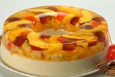 Gelatina de fruta y leche
