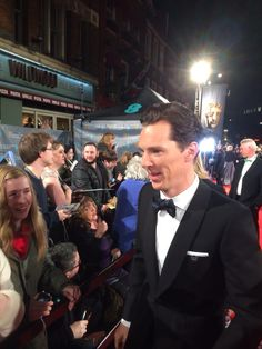 """""""Benedict,Benedict came the cry as #Benedictcumberbatch walked the @BAFTA red carpet"""""""