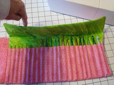 crochet hook wallet tutorial on crochet hook case. I don't crochet but would make a nice gift for mother in-law who does!