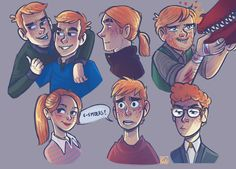 The Weasleys by BehindtheVeil on DeviantArt