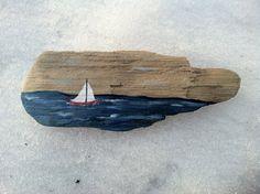 Driftwood Sailboat Decorative Sign by MaineCoastCottage on Etsy