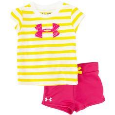 Under Armour® Infant Girl HeatGear® Striped Logo Short Set #VonMaur