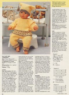Knitting Dolls Clothes, Knitted Dolls, Doll Clothes Patterns, Crochet Dolls, Doll Patterns, Crochet Baby, Love Knitting Patterns, Baby Patterns, Girl Dolls