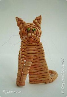Игрушка Плетение Котики Бумага Трубочки бумажные фото 4
