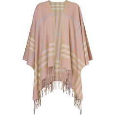 Woollen Scarves Poncho (€100) ❤ liked on Polyvore featuring outerwear, plaid poncho and wool poncho