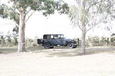 Bridal vintage car