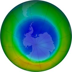 Ozone hole above the Antarctic is smaller than last year