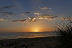 Dernier coucher de soleil sur la plage de St barbe à Plouharnel