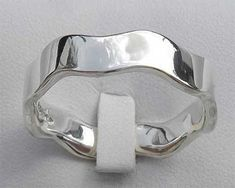 Wavy Sterling Silver Wedding Ring   UK Made! Wedding Ring For Him, Cool Wedding Rings, Our Wedding, Sterling Silver Wedding Rings, Metal, Beautiful, Silver, Rings