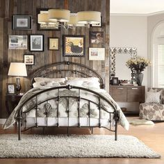 details about vintage bed frame rustic antique metal bedroom furniture victorian cast iron loo - Vintage Bed Frame